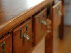 Card Catalog Coffee Table