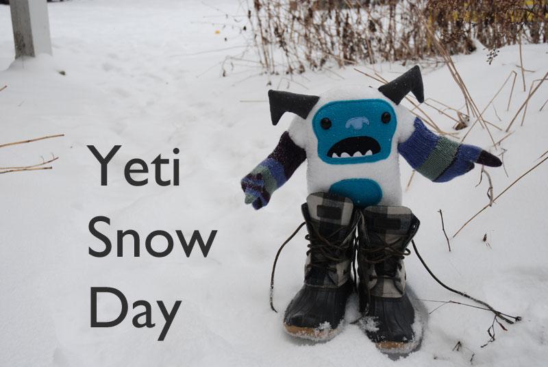 Yeti snow day